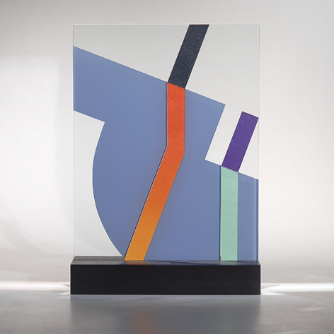 Painted flat glass sculpture