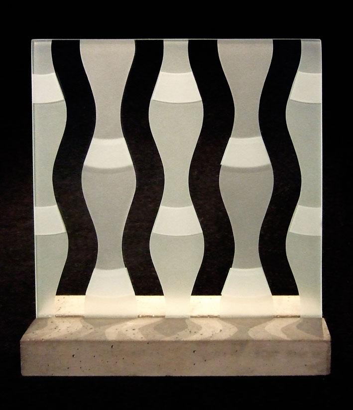 "Glasskulptur ""Kolonn"""
