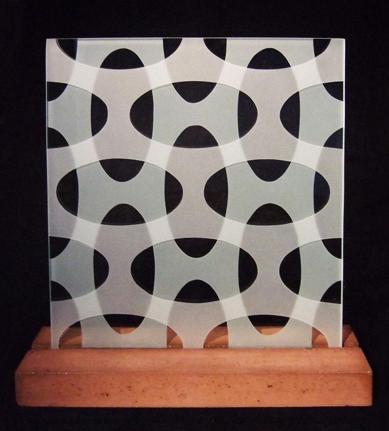 "Glasskulptur ""Oval"""