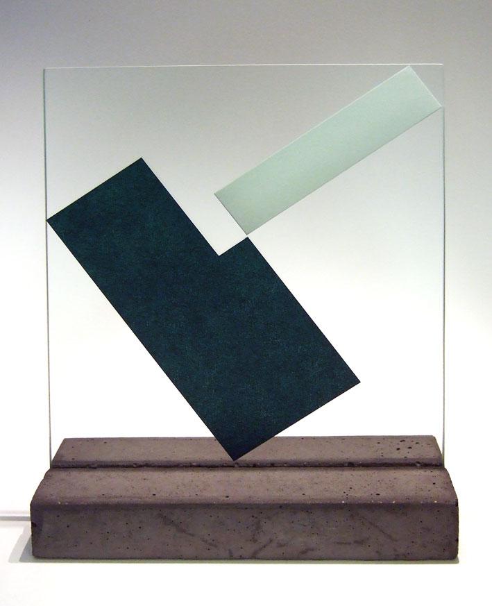 """Glasskulptur """"Reflex-1"""""""