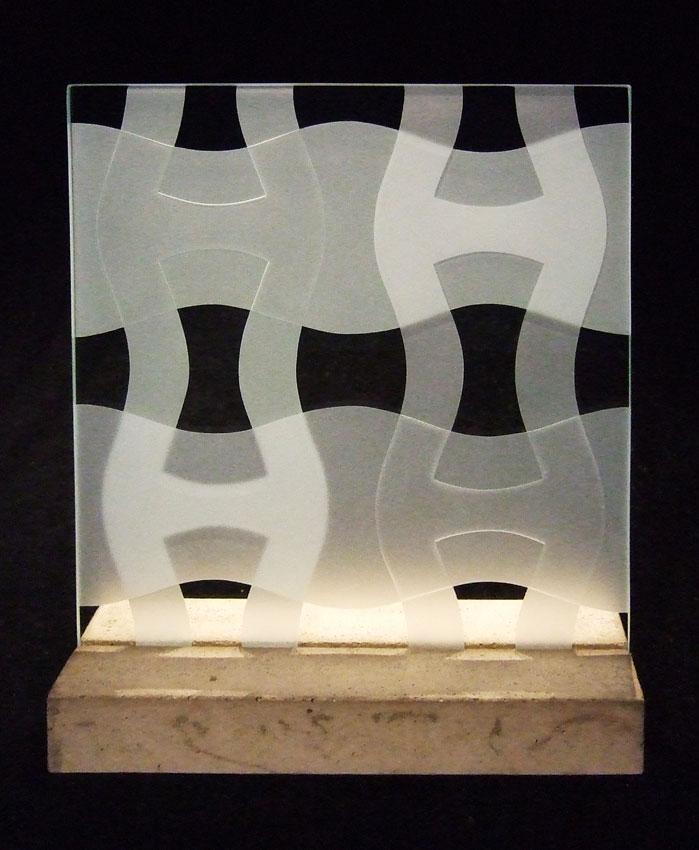 "Glasskulptur ""Vågskvalp"""